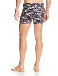 Speedo Men's Geo Diamond 4-Way Square-Leg Swimsuit - Black - Size: Small
