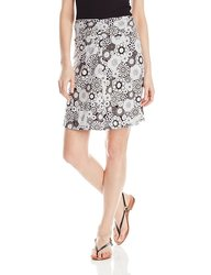 White Sierra Women's Printed Dailey Duty Skirt - Caviar Combo - Size: X-S