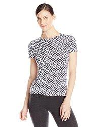 Mott 50 Women's Rosa Athletic T-Shirt - Navy Diamond - Size: Large