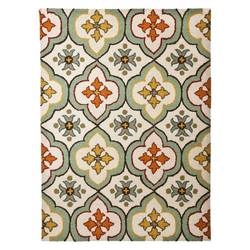 """Threshold 1'8"""" x 2'10"""" Floral Bell Hand Tufted Indoor/Outdoor Area Rug"""