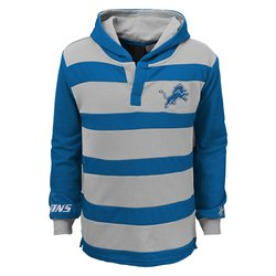 NFL Detroit Lions Youth Boys Striped Hoodie - Blue - Size: Youth S (8)