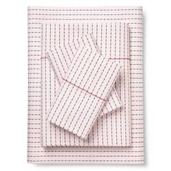 Brooklyn & Bond Poplar Dot Bed Sheet Set - White/Red - Size: Queen