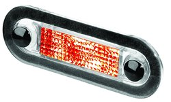 Hella Oblong Wide Rim Clear Lens LED Interior Lamp - Red (959510707)