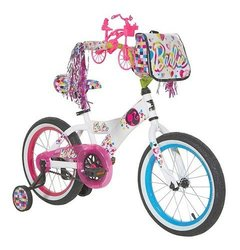 Girl's Barbie Bike 16'' - Pink/White