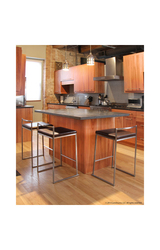 Stainless Steel Modern Counter Stool black