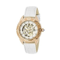 Empress Godiva Ladies Watch: EM1106 White Band-Silver Dial