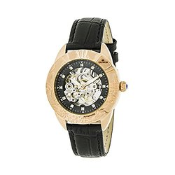 Empress Godiva Ladies Watch: EM1107 Black Band-Black Dial