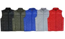 Spire By Galaxy Premium Light Weight Puffer Vest: Black/medium