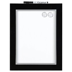 "Quartet Dry-Erase Board, Magnetic, 8-1/2"" x 11"", Home Organization, Black/Silver Frame (50726)"