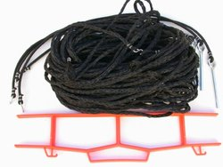 Volleyball Rope Boundary, 8 Meter Court Size, Grass Setup - M825g (black)