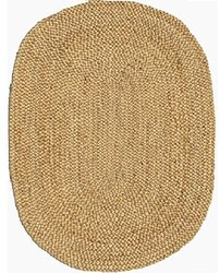 Acura Rugs Natural Jute Collection Area Rug, Oval Shaped Area Rug