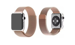 Ikeen Tribeca Milanese Mesh Band for Apple Watch - Rose Gold - Size: 42mm