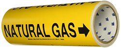 Brady 15556 Pipe Marker, Natural Gas, Yellow