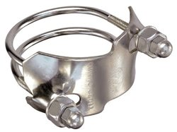 Kuriyama SDBC-SS-8 TigerClamp Stainless Steel Spiral Double Bolt Clamps, 8""