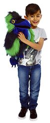 The Puppet Birds Raven Puppet Toy - Size: Large