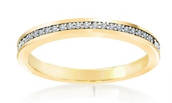 Double Accent Channel Set Eternity Band - Size: 5