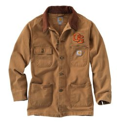 NCAA Oregon State Beavers Men's Weathered Chore Coat, Large