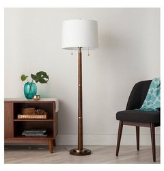 Floor Lamp Thrshd Black Brass