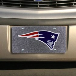 Stockdale New England Patriots License Plate Full Glitter & Team Logo