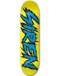 Siren Team Shocker Skateboard Deck - Blue/Yellow - Size: 7.75