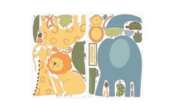 RoomMates Sapna Zoo Animals Peel and Stick Giant Wall Decals