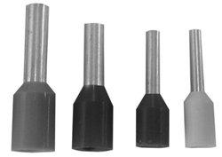 "Burndy YF2208IT Insulated Ferrule, 22 AWG Wire Size, 0.051"" Diameter, 0.551"" Length (Pack of 500)"