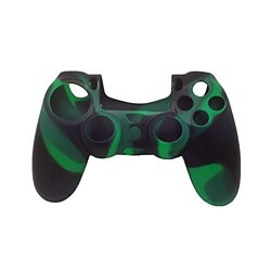 Jackie Silicone Case for PS4 Remote Controller - Camouflage Deep Green