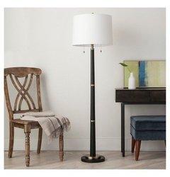 Floor Lamp Thrshd Black Brass