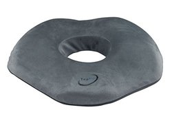 TopFit Donut Ring Comfort Foam Medical Seat Cushion with Contours for the Legs and Tailbone Gray
