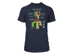 Jinx Official Licensed Minecraft Creeper Anatomy Men's T-shirt. Blue. XXX-Large.