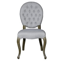 Adeco Euro Regal Style Fabric Armless Chair Living Dining Chair with Toon Wood Legs, Luxurious Set of TWO
