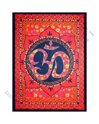 Kheops Cotton Single Om Lotus Tapestry Wall Hanging D