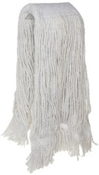 Zephyr 24401 Blendup 4-Ply Blended Natural and Synthetic Fibers 12oz Cut End Wet Mop Head with Wide Band Fantail (Pack of 12)