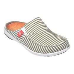 Spenco Women's Siesta Slide Montauk Shoes - Khaki Stripe - Size: 7