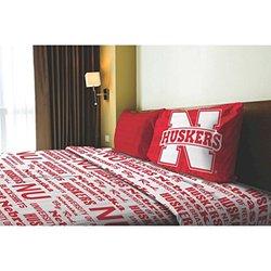 NCAA Applique Bedding Comforter 3 Pc Set - Nebraska - Size: Twin