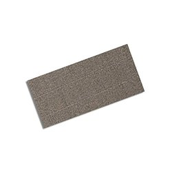 """TapeCase 3M CN3490 1"""" x 4""""-100 Gray Non-Woven Conductive Fabric Tape, 4"""" Length, 1"""" Width, Rectangles (Pack of 100)"""