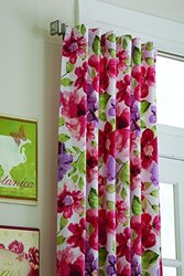 Split P Clarissa Floral Lined Hidden Tab Panel, 84-Inch