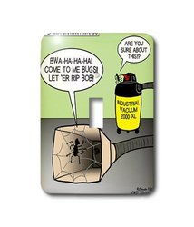 3dRose lsp_15799_1 Spider Darwin Awards Vacuum Cleaner Bug Trap - Single Toggle Switch