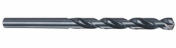 """Cleveland 3957 6 High Speed Steel Aircraft Extension Drill Bit, 6"""" Overall Length, Uncoated (Bright), Round Shank, 135 Degree Split Point, Wire Size #5 (Pack of 12)"""
