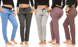 Women's Color-Contrast Joggers - Assorted - Size: Large (5-Pack)