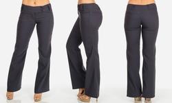 Women's Juniors Mid-Rise Work Dress Pants - Gray - Size: Small
