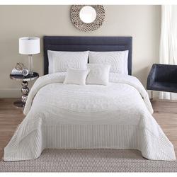 VCNY Hilltop 5 Piece Bedspread Set - Ivory - Size: King