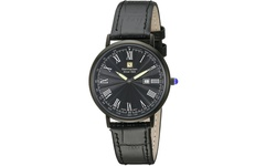 Steinhausen Men's Dunn Horizon Ultra Thin Swiss Watch - Blue Crystal