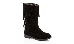 Coco Jumbo Limor-2 Girls' Riding Fringe Boot - Black - Size: 4