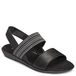 Aerosoles A2 Savant Women's Wedge Slingback Sandals - Black - Size: 11 M