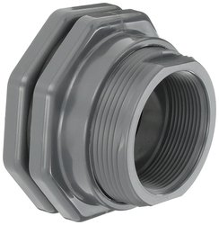 "Hayward PVC Bulkhead Fitting - FPM Gasket- 3"" Threaded"
