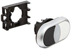 Eaton Illuminated Off-On Style 22mm Dia Double Pushbutton - White/Black