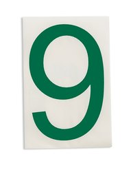 "Brady Green Letter ""9"" ToughStripe Die-Cut Polyester Tape - Pack of 20"