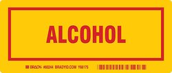 "Brady 3""x7"" Red on Yellow Legend ""Alcohol"" Container Label - 25-Pack"