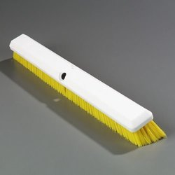 "Carlisle Sparta Spectrum Omni Sweep Floor Sweep - 24"" Length - Yellow"